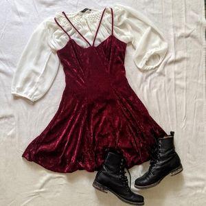 Vintage Velvet Skater Dress